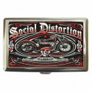SOCIAL DISTORTION MOTORCYCLE Cigarette Money Case ID Holder or Wallet!
