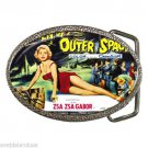 QUEEN OF OUTER SPACE ZSA ZSA GABOR Campy Sci-Fi Belt Buckle WOW!