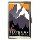 SEE AMERICA WELCOME TO MONTANA VINTAGE Cigarette Money Case ID Holder or Wallet!