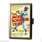 THE JACKIE ROBINSON STORY BASEBALL Cigarette Money Case ID Holder Wallet WOW