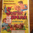 SCARLETT SPEAR John Bentley Martha Hyer Morasi Yusef Original Movie Poster