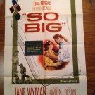 SO BIG Jane Wyman Sterling Hayden Nancy Olson Martha Hyer Original Movie Poster