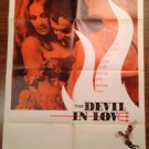 THE DEVIL IN LOVE Vittorio Gassman Claudine Auger Mickey Rooney Org Movie Poster