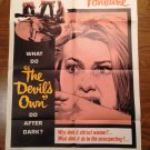 THE DEVIL'S OWN Aka The Witches  Original Joan Fontaine Kay Walsh Movie Poster