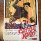 CATTLE KING Robert Taylor Robert Loggia Joan Caulfield Original Movie Poster