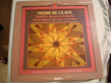 CHARLES RAVIER Pierre De La Rue Requiem & Mass Lp Philips PHC 9021 VG+