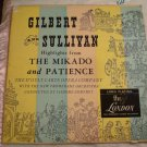 GODFREY D'OYLY CARTE Gilbert & Sullivan Highlights Mikado & Patience Lp London