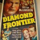 DIAMOND FRONTIER Victor McLaglen John Loder Anne Neagle Original Movie Poster!!!