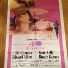 40 CARATS Liv Ullmann Edward Albert Gene Kelly Original Movie Poster