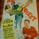 HENRY AND DIZZY Jimmy Lydon Charles Smith Mary Anderson Original Movie Poster