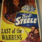 LAST OF THE WARRENS Bob Steele Margaret Marquis Original Movie Poster RARE!