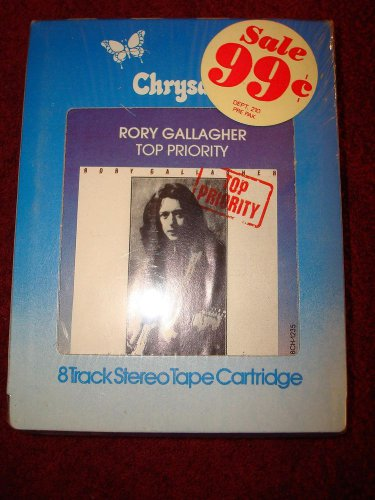 RORY GALLAGHER Top Priority NEW SEALED 8-Track Tape WOW