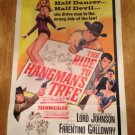 THE RIDE TO HANGMAN'S TREE Jack Lord Melodie Johnson Original Movie Poster