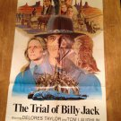 THE TRIAL OF BILLY JACK Tom Laughlin Delores Taylor Original Movie Poster GREAT!