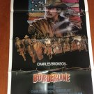 BORDERLINE Charles Bronson Bruno Kirby Ed Harris Original Movie Poster