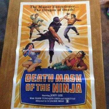 DEATH MASK OF THE NINJA SHAW BROTHERS Original Movie Poster RARE!