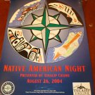SEATTLE MARINERS NATIVE AMERICAN NIGHT Poster Orig 2004