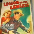 LEGION OF THE LAWLESS George O'Brien Virginia Vale Original Movie Poster RARE!!