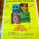 A MAN, A WOMAN AND A BANK Donald Sutherland Brooke Adams Original Movie Poster