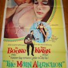 THE MAIN ATTRACTION Pat Boone Nancy Kwan Original Movie Poster!