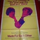 MADE FOR EACH OTHER Joseph Bologna FOX Movie Poster