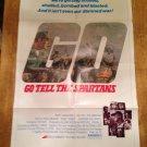 GO TELL THE SPARTANS Burt Lancaster Craig Wasson Original Movie Poster