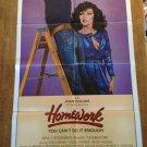 HOMEWORK Joan Collins Michael Morgan Wings Hauser Original Movie Poster SEXY