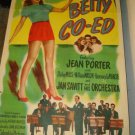 BETTY CO-ED Jean Porter Shirley Mills Jan Savitt Original Movie Poster RARE!