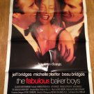 THE FABULOUS BAKER BOYS Michelle Pfeiffer Beau Jeff Bridges Movie Poster Dual Sd