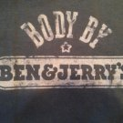 BODY BY BEN & JERRY'S ICE CREAM Original S T-Shirt Distressed Look SWEET!