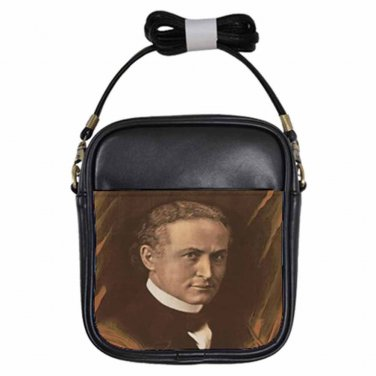HARRY HOUDINI MAGICIAN CAN DEAD SPEAK? Beautiful Leather Sling Bag Small Purse