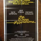 THE CHINA SYNDROME Jane Fonda Jack Lemmon Michael Douglas Original Movie Poster