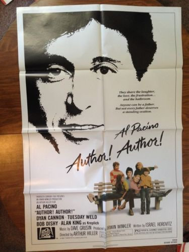 AUTHOR! AUTHOR! Al Pacino Dyan Cannon Tuesday Weld Original Movie Poster