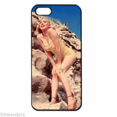 MARILYN MONROE ON THE ROCKS Apple Iphone Case 4/4s 5/5s 5c 6 or 6 Plus PICK