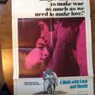 A WALK WITH LOVE AND DEATH Anjelica John Huston Assi Dayan Original Movie Poster
