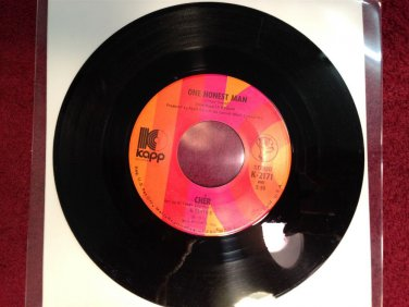 CHER One Honest Man / Living In A House Divided 45 Rpm Kapp