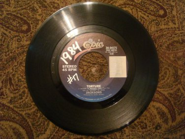 JACKSONS Torture \ Torture (Instrumental) 45rpm Epic Records