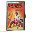 WHICH LESBIANS PREFER MALES? SPANKING Cigarette Money Case ID Holder or Wallet
