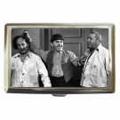 THREE STOOGES MOE LARRY CURLY HAIR PULL Cigarette Money Case ID Holder or Wallet