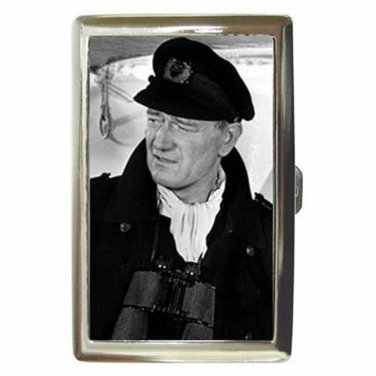 JOHN WAYNE THE SEA CHASE Cigarette Money Case ID Holder or Wallet! WOW!