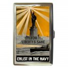 FOR LIBERTY'S SAKE ENLIST IN THE NAVY Cigarette Money Case ID Holder or Wallet!