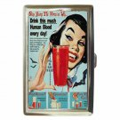 STAY YOUNG THE VAMPIRE WAY DRINK BLOOD Cigarette Money Case ID Holder or Wallet!