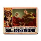 SON OF FRANKENSTEIN Boris Karloff Bela Lugosi Custom Mousepad HORROR!
