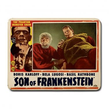 SON OF FRANKENSTEIN Boris Karloff Bela Lugosi Custom Mousepad HORROR!