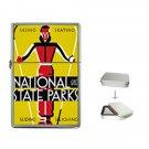 U.S. NATIONAL STATE PARKS SKIING VINTAGE Flip Top Lighter