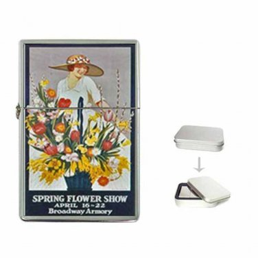CHICAGO L TRAIN SPRING FLOWER SHOW BROADWAY ARMORY NEW Flip Top Lighter
