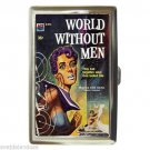WORLD WITHOUT MEN SCI-FI KILLER Cigarette Money Case ID Holder or Wallet! WOW!