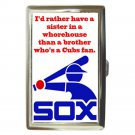 CHICAGO WHITE SOX CUBS SUCK WHOREHOUSE Cigarette Money Case ID Holder or Wallet