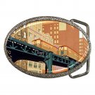Vintage Train Chicago L-Train Apple North Shore line Belt Buckle NEW!