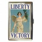 LIBERTY VICTORY VINTAGE WAR POSTER Cigarette Money Case ID Holder or Wallet!